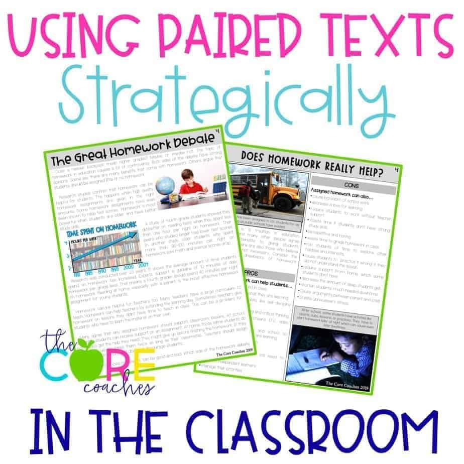 Paired Texts Passages In The Classroom