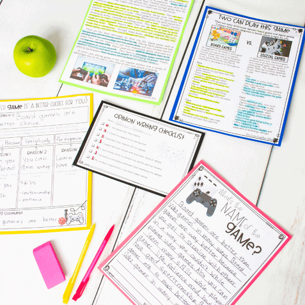 Digital Vs. Board Games- Paired Texts To Improve Students' Writing