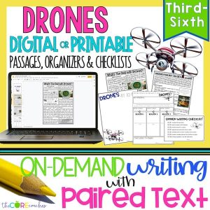 Drones - Print Or Digital Paired Text Passages & Opinion Writing