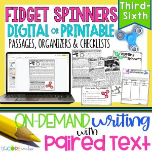 Fidget Spinners - Print Or Digital Paired Text Passages & Opinion Writing