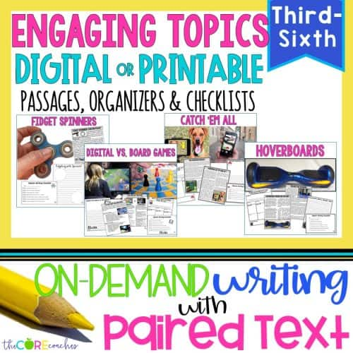 Engaging Topics Bundle   Digital Paired Text Passages