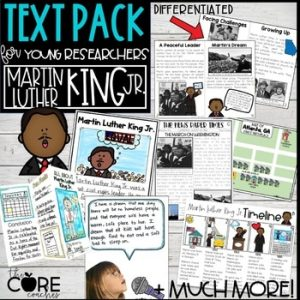 Black History Research Project   Martin Luther King Jr. Printable Texts
