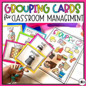 Grouping Cards - Classroom Management